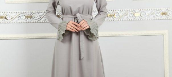 tesettür elbise, tesettür elbise ile eşarp kullanımı, tesettürde şal kullanımı